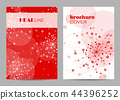 Brochure template layout design. Abstract geometric background with connected lines and dots 44396252