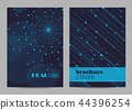 Brochure template layout design. Abstract geometric background with connected lines and dots 44396254