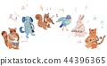 พื้นหลังสีขาว,สัตว์,ภาพวาดมือ สัตว์ 44396365