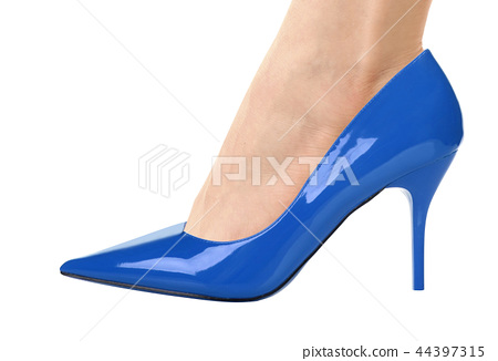 Sexy leg in high heels isolated 44397315