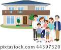 housing for two generations, family, three generation family 44397320