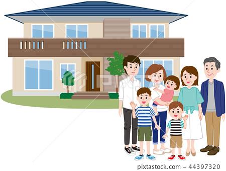 두 주택 대가족 44397320
