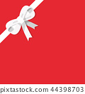 White bow isolated on red background 44398703
