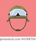Military metal helmet with goggles 44398704