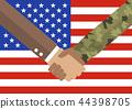 Handshake businessman and soldier 44398705