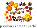 Halloween day background card 44398760