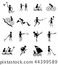 sport icons vector set on white background 44399589