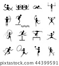 sport icons vector set on white background 44399591