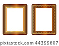 gold and brown picture frame vector 44399607