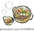 food cooked in a pot, cooking in a pot, pot of chicken or seafood 44399838