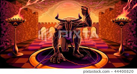 Minotaur in the labyrinth  44400820