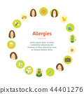 Cartoon Allergy Banner Card Circle Poster. Vector 44401276