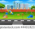 Vector illustration of Playground in the park 44401823