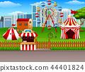 Amusement park background 44401824