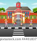 Vector illustration of Children crossing the stree 44401837