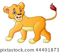 Vector illustration of Cartoon lioness isolated on 44401873