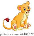 Vector illustration of Cartoon lioness isolated on 44401877