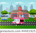 Vector illustration of City skyline background wit 44401925