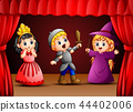 Vector illustration of Little kids theater perform 44402006