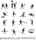 sport icons vector set on white background 44402032