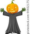 Cartoon Halloween pumpkin 44402175