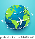 Time to travel explore the world with aircraft 44402541