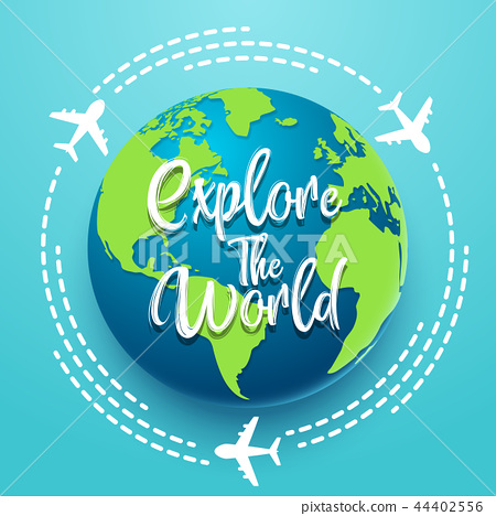 Time to travel explore the world with aircraft 44402556