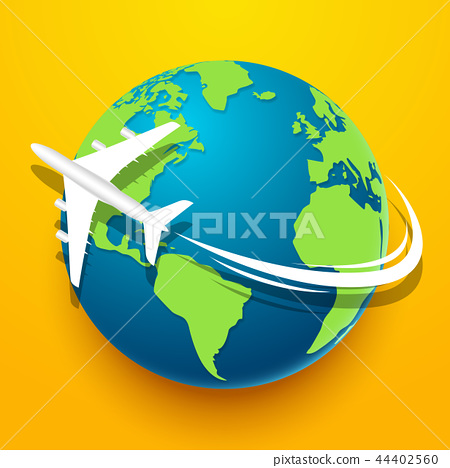 Time to travel explore the world with aircraft 44402560