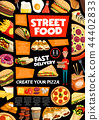 Street food and fastfood delivery service 44402833