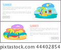Summer Web Pages Collection Vector Illustration 44402854