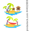 Summer Islands Collection Vector Illustration 44402869