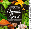 Natural herbs, vector organic seasoning spices 44402912