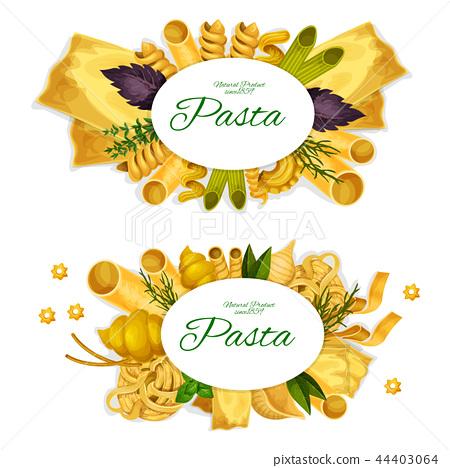 Pasta spaghetti, ravioli and lasagna 44403064