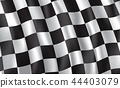 Racing and rally car checkered flag, vector 44403079