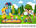 Children playing at playground 44403898