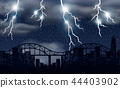 Storm and lighting over city 44403902