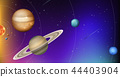 Orbit of planets in space 44403904