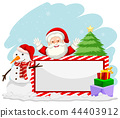 Winter christmas with santa banner 44403912