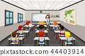 Students in modern classroom 44403914