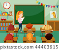 teacher, class, students 44403915