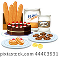 Set of bakery element collection 44403931