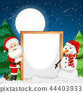 Frame with santa and snowman 44403933