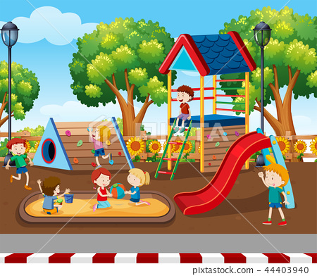 Children playing at playground 44403940