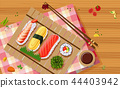 sushi food chopsticks 44403942