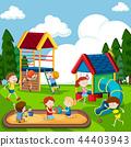 Children playing on playground 44403943