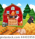 Animals at the farm 44403956