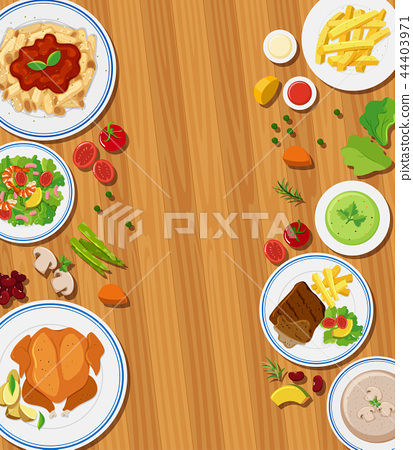 Set of meal concept 44403971