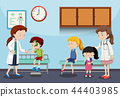 Children and doctors in clinic 44403985