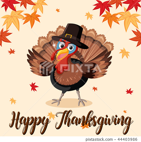 Happy thanksgiving turkey template 44403986