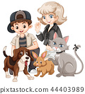 People with pets concept 44403989